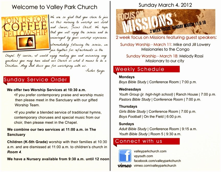 Free Printable Church Bulletin Templates New 12 Church Bulletin Template Microsoft Word Oinwy