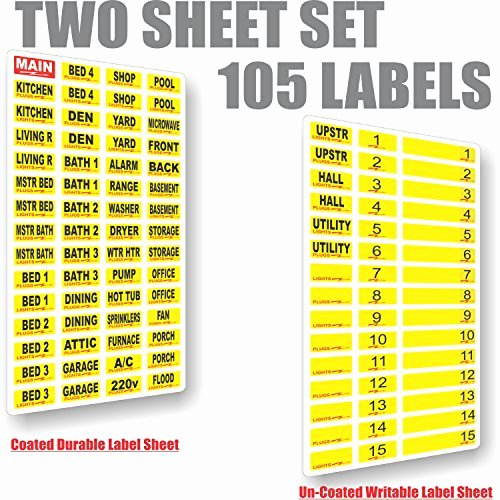 Free Printable Circuit Breaker Panel Labels Beautiful Circuit Breaker Decals 105 tough Vinyl Labels for