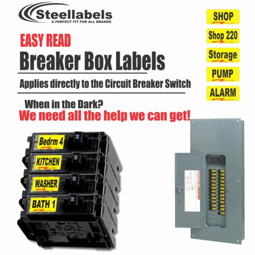 Free Printable Circuit Breaker Panel Labels New Garage organizer Labels