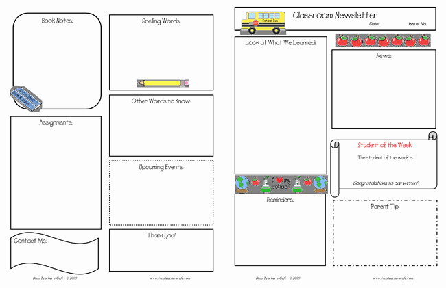 Free Printable Classroom Newsletter Templates Awesome 10 Classroom Newsletter Templates Free and Printable