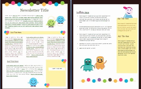 Free Printable Classroom Newsletter Templates Awesome Free Newsletter Templates