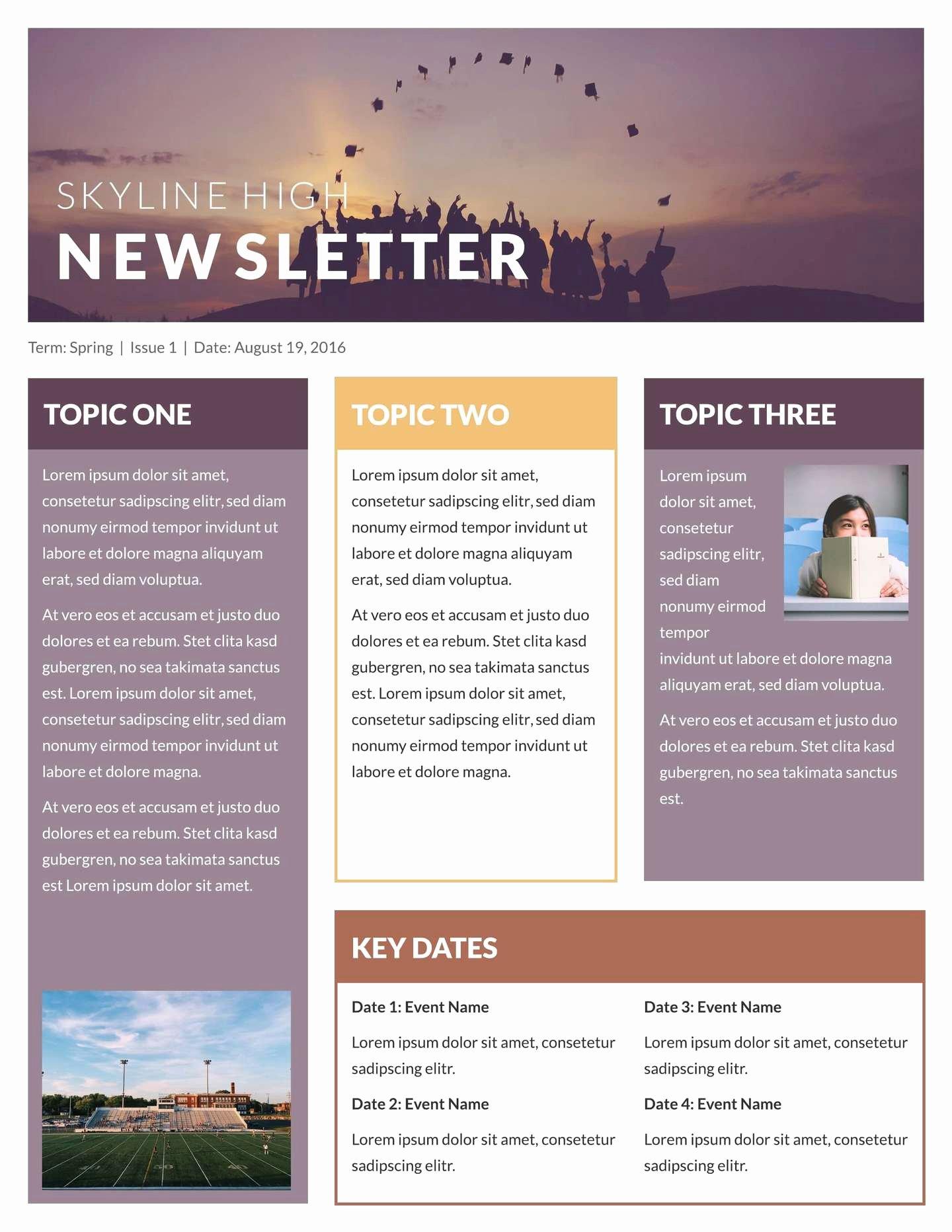 Free Printable Classroom Newsletter Templates Awesome Free Printable Newsletter Templates & Email Newsletter