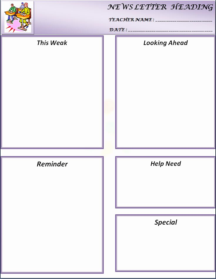 Free Printable Classroom Newsletter Templates Awesome Newsletter Templates for Teachers Preschool
