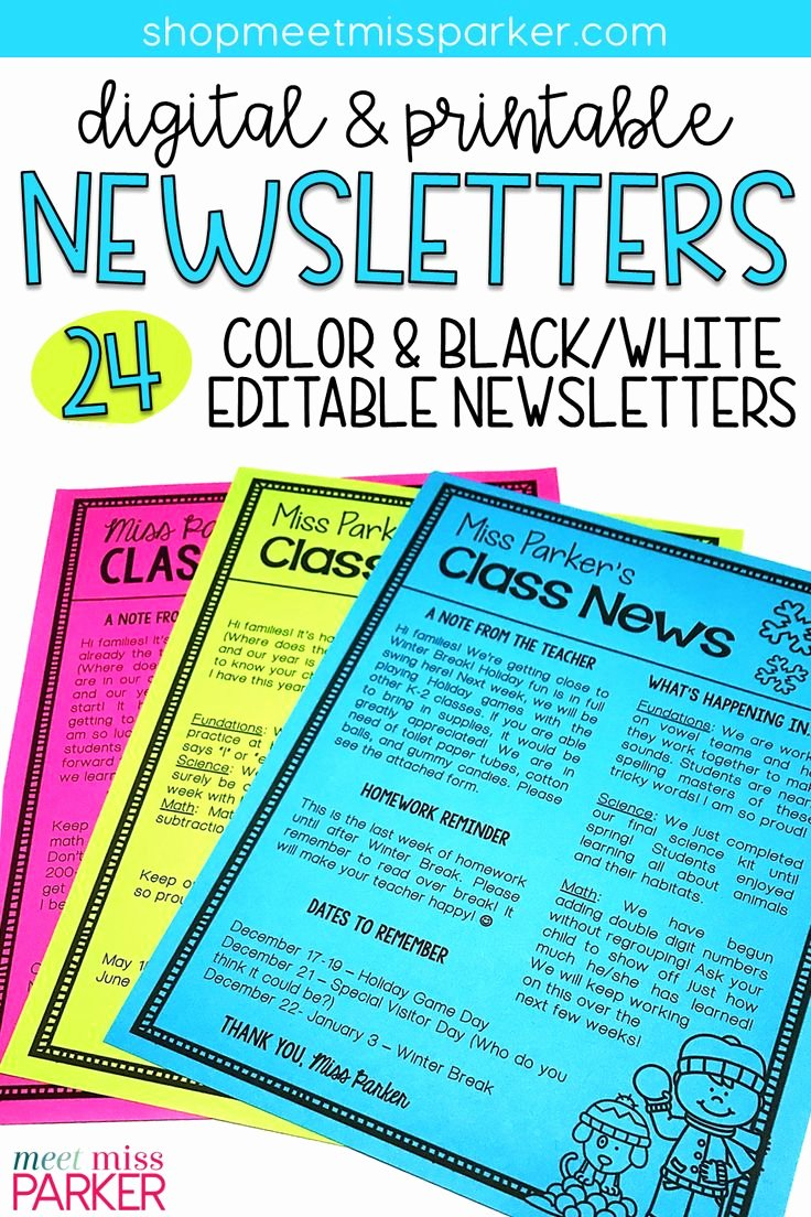 Free Printable Classroom Newsletter Templates Best Of Best 25 Preschool Newsletter Templates Ideas Only On