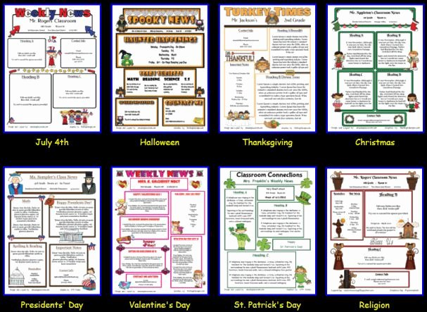 Free Printable Classroom Newsletter Templates Best Of Newsletter Templates Super Easy
