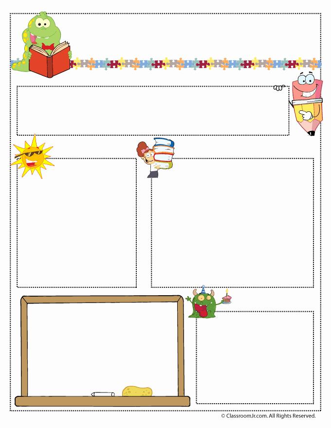 Free Printable Classroom Newsletter Templates Fresh Teacher Newsletter Templates Woo Jr Kids Activities