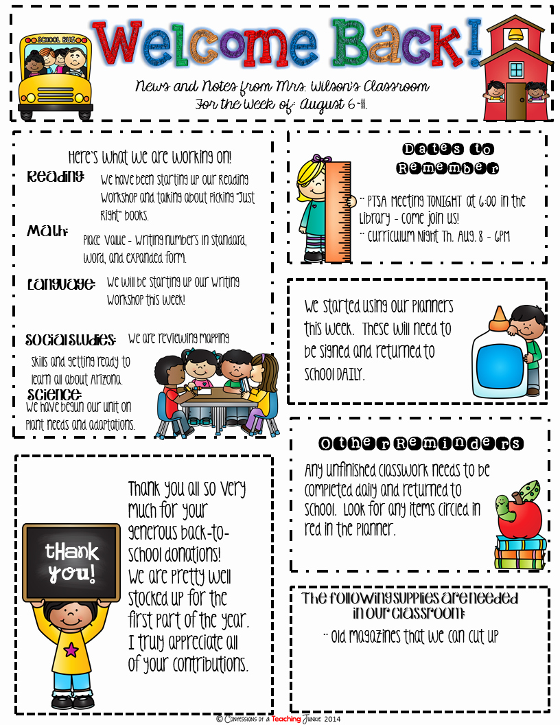 Free Printable Classroom Newsletter Templates Inspirational Seasonal Classroom Newsletter Templates for Busy Teachers