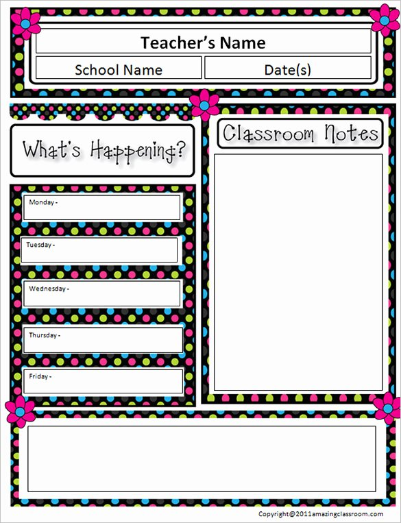 Free Printable Classroom Newsletter Templates Lovely 9 Awesome Classroom Newsletter Templates & Designs