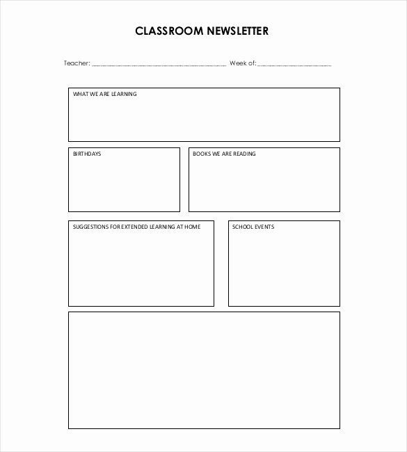 Free Printable Classroom Newsletter Templates Lovely 9 Teacher Newsletter Templates – Free Sample Example