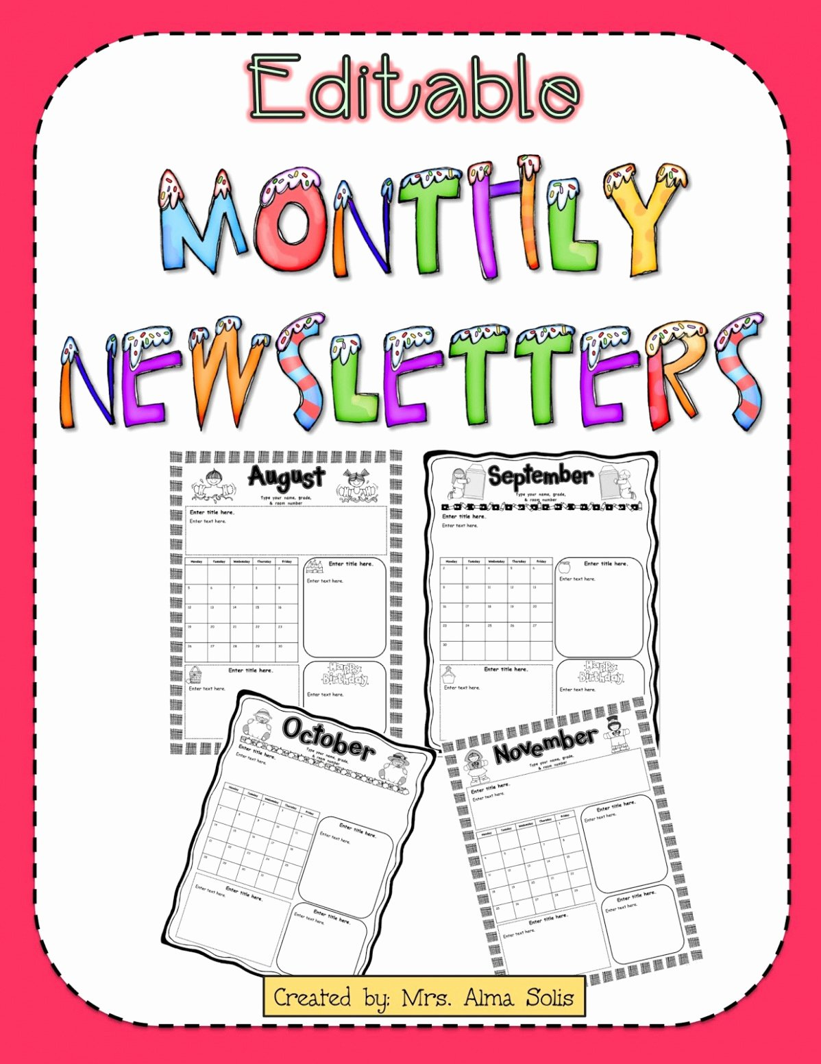 Free Printable Classroom Newsletter Templates Lovely Free Editable Newsletter Templates Reeviewer