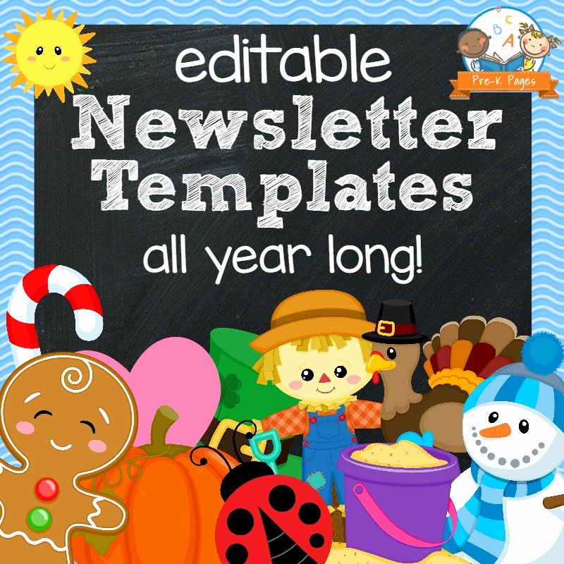 Free Printable Classroom Newsletter Templates Luxury Classroom Newsletters Pre K Pages