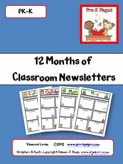 Free Printable Classroom Newsletter Templates Unique Classroom Newsletters