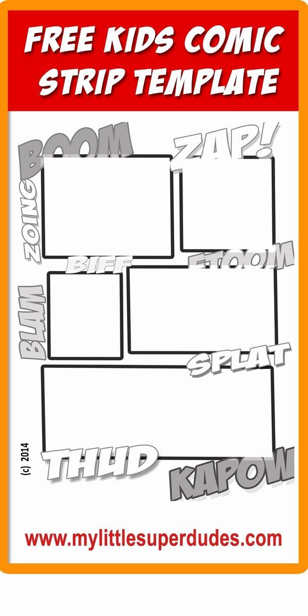 Free Printable Comic Strip Template Best Of Free Kids Ic Strip Template Features Classic Ic