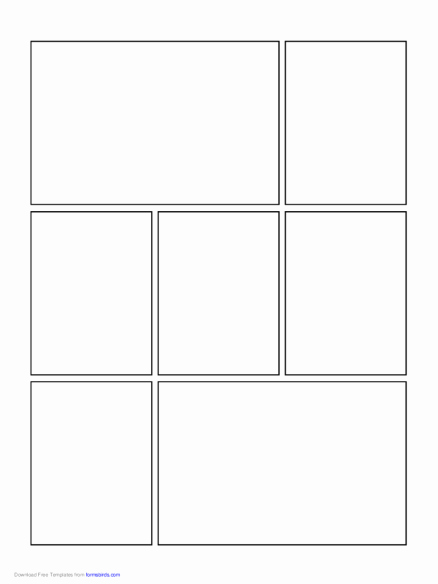 Free Printable Comic Strip Template Inspirational Ic Page Templates Letter Examples Free Strip Printable