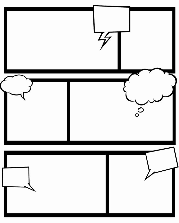 Free Printable Comic Strip Template Lovely Free Printable Superhero Ic Book Templates and This
