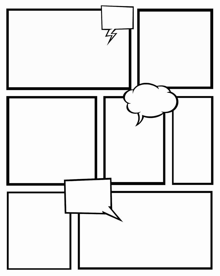 Free Printable Comic Strip Template Luxury Free Printables Ic Strips to Use for Story Telling 3