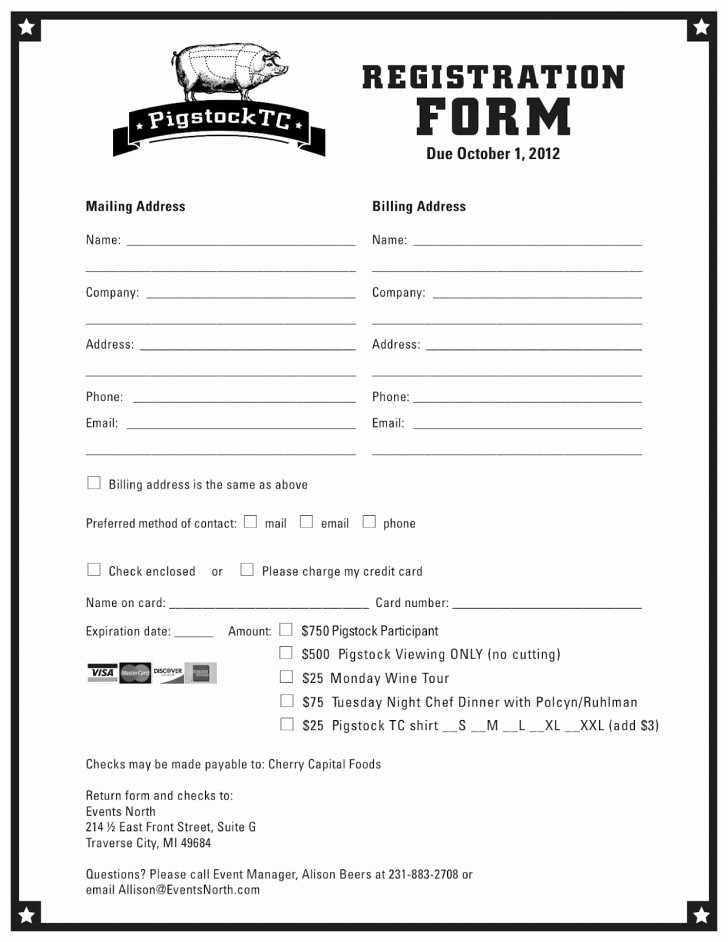 Free Printable Contest Entry form Template Awesome New Customer Registration form Template