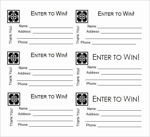 Free Printable Contest Entry form Template Lovely 24 Raffle Ticket Templates Pdf Psd Word Indesign