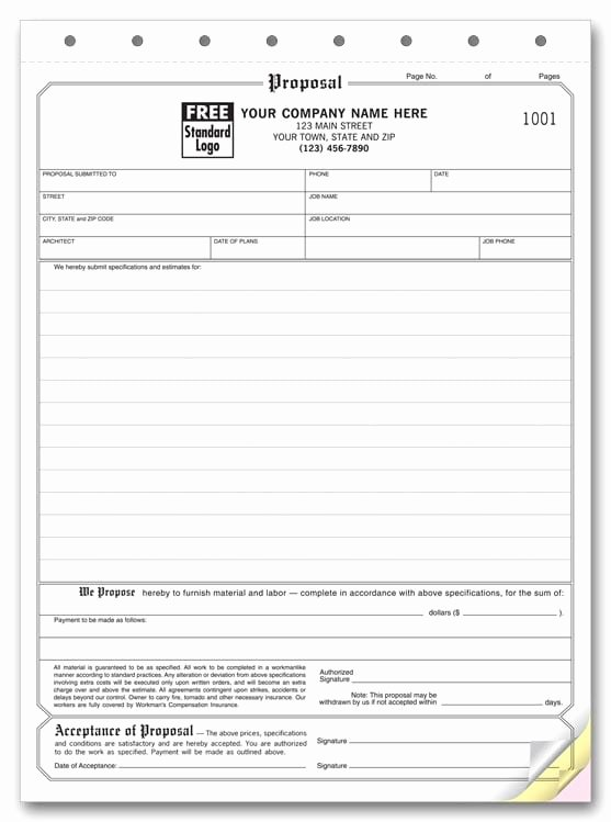 Free Printable Contractor Proposal forms Unique 5 Proposal form Templates formats Examples In Word Excel