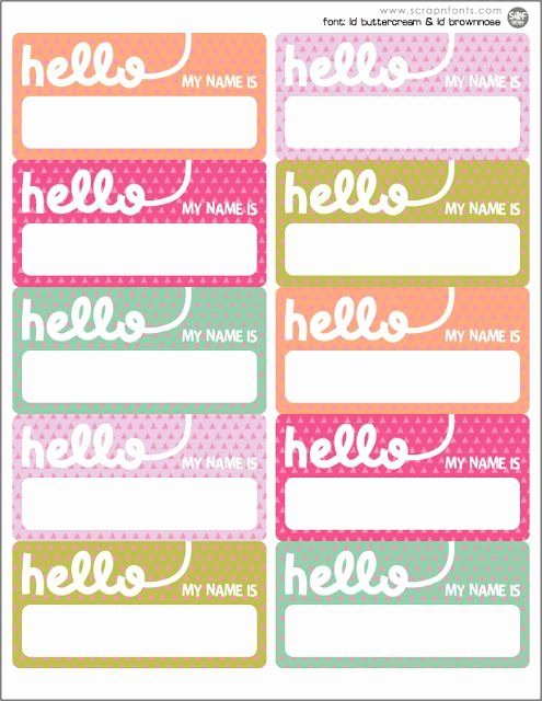 Free Printable Desk Name Plates for Students Unique Freebie Friday Hello Name Tags