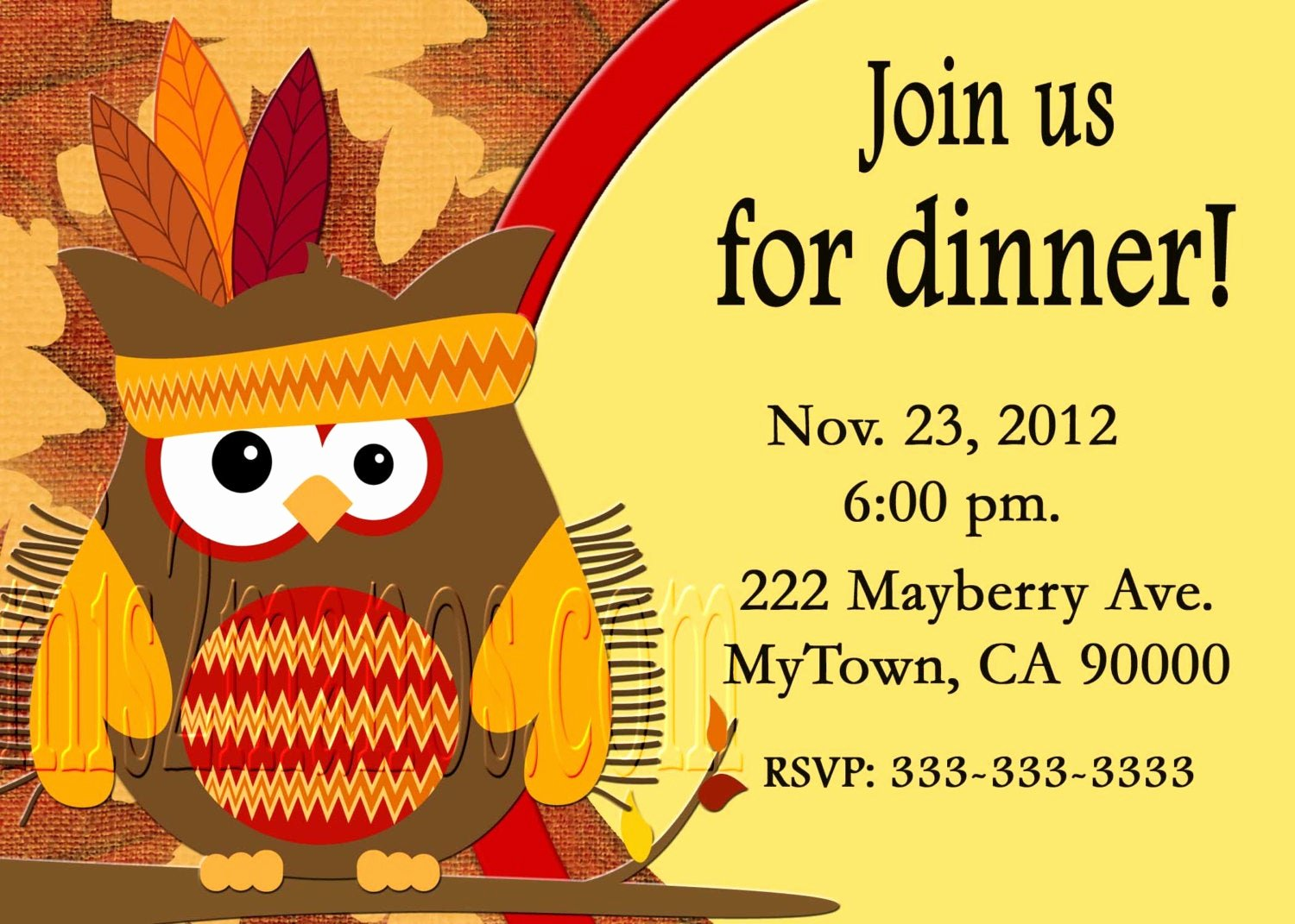 Free Printable Dinner Invitations Awesome Thanksgiving Dinner Invitation Diy Printable Party Invites