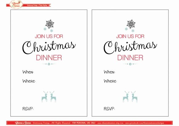 Free Printable Dinner Invitations Beautiful 30 Best Images About Christmas Invitations On Pinterest