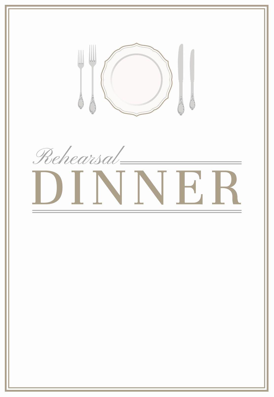 Free Printable Dinner Invitations Best Of Elegant Setting Free Printable Rehearsal Dinner Party