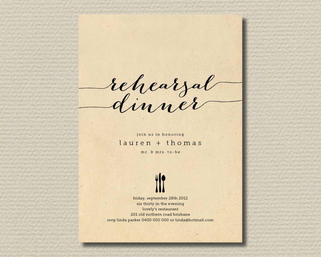 Free Printable Dinner Invitations Elegant Rehearsal Dinner Invite