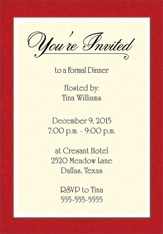 Free Printable Dinner Invitations New Dinner Invitation Template Free