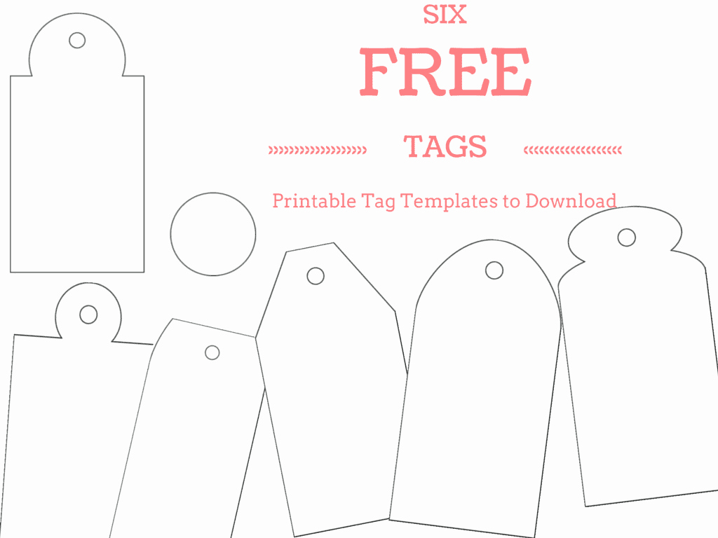 Free Printable Dog Tag Template Awesome 6 Free Printable Gift Tag Templates