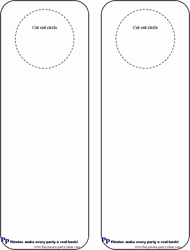 Free Printable Door Hanger Template Fresh Cool Idea for Diy Door Hangers Miscellaneous