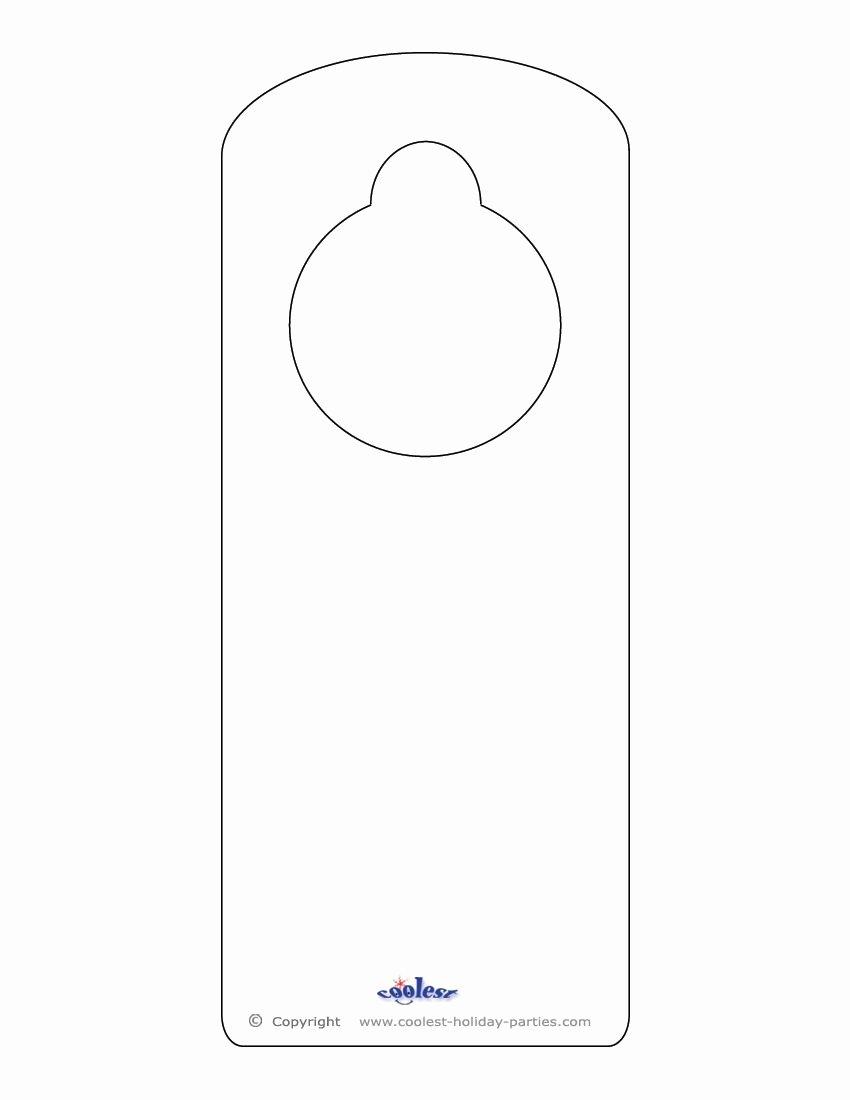 Free Printable Door Hanger Template Inspirational Blank Printable Doorknob Hanger Template