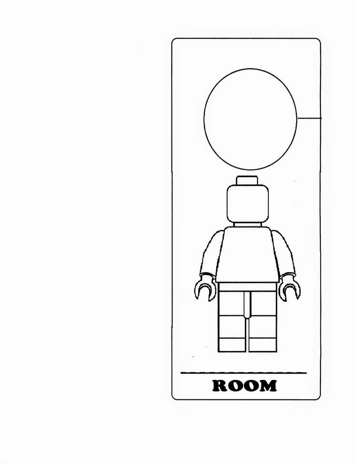Free Printable Door Hanger Template Luxury Lego Door Hanger Crafts with Cathy Thinking Out Loud