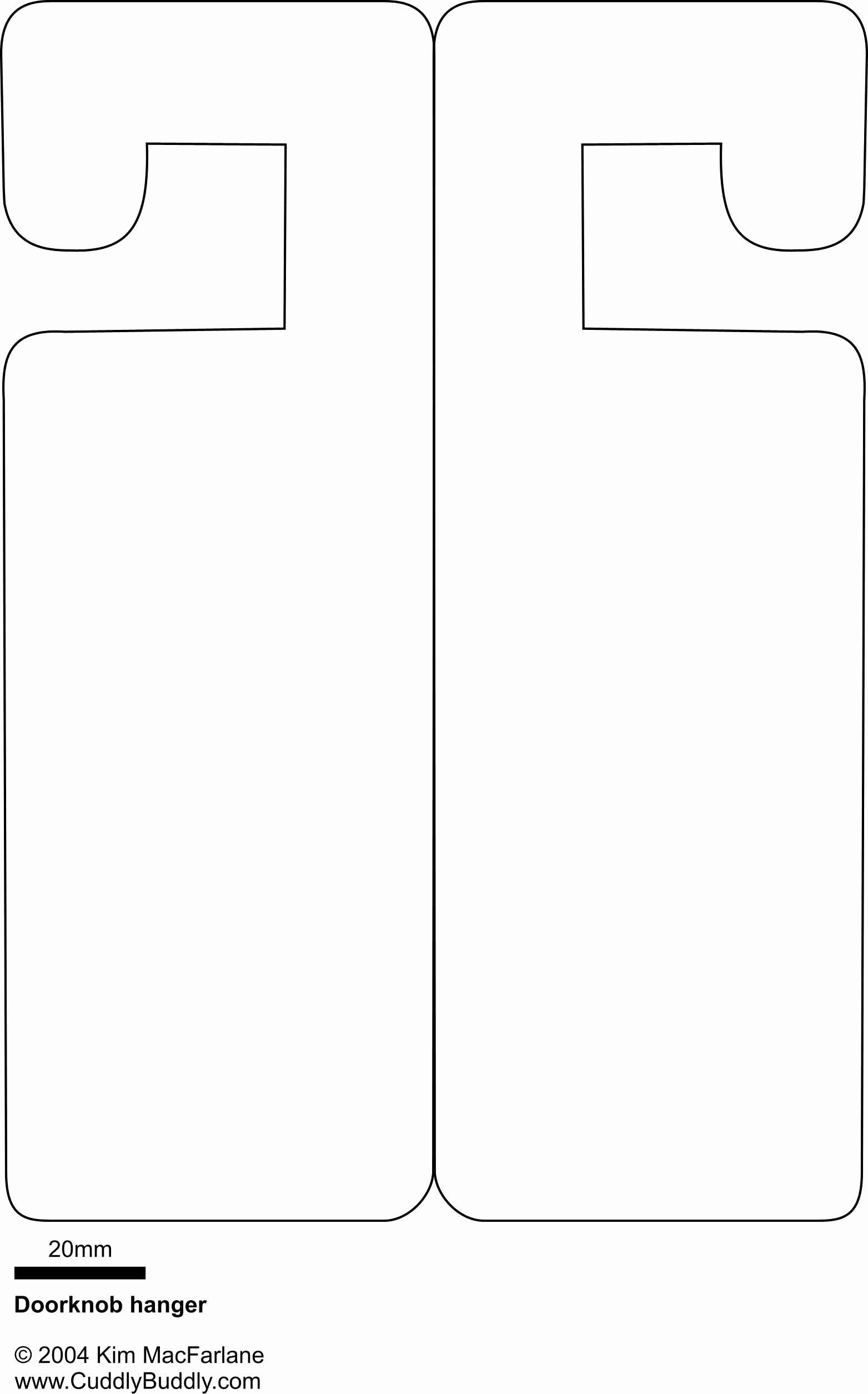 Free Printable Door Hanger Template New Doorknob Hanger Template something to Occupy the Kids On