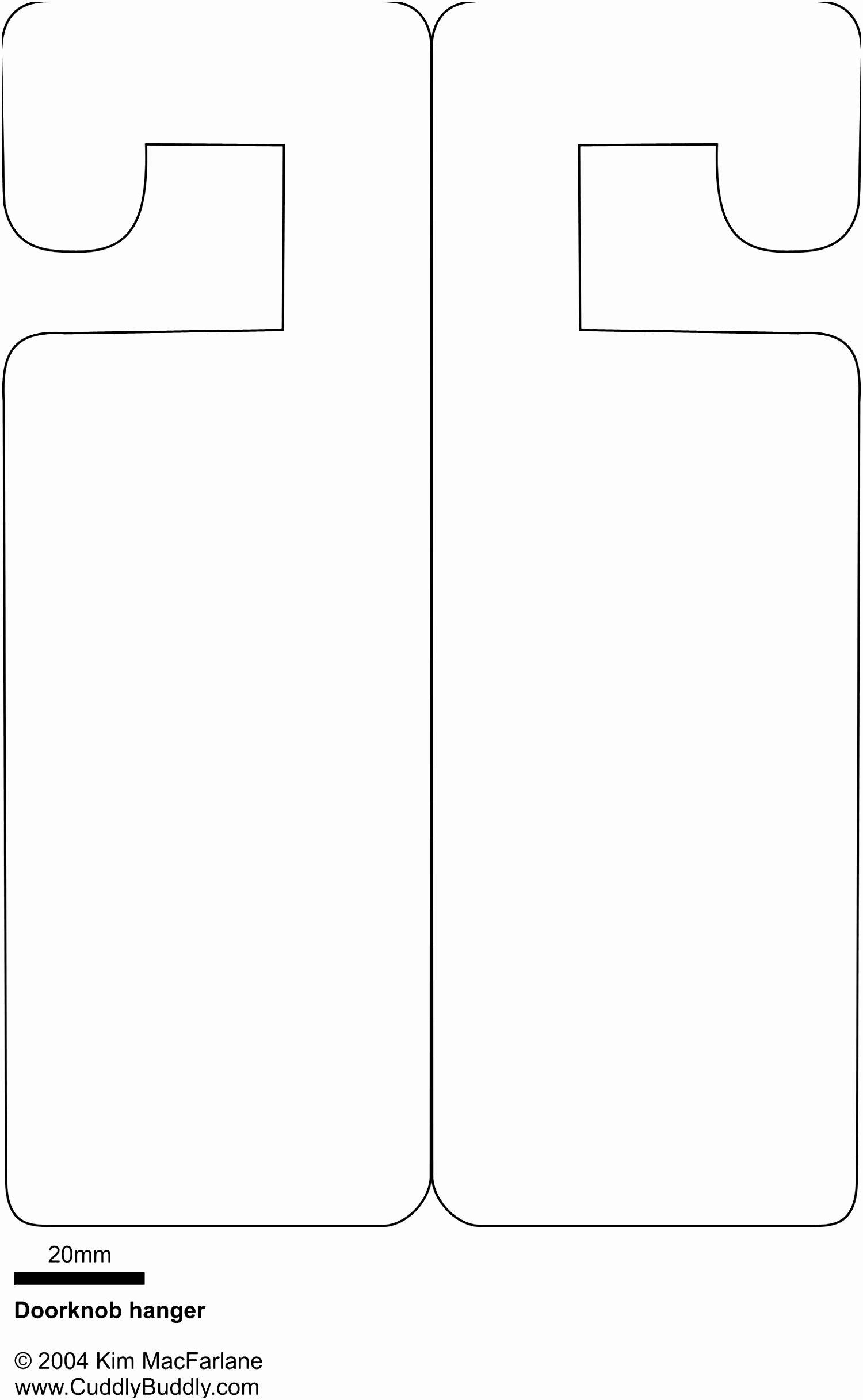 Free Printable Door Hanger Template Unique Door Hanger Template for Publisher Blank Free Download