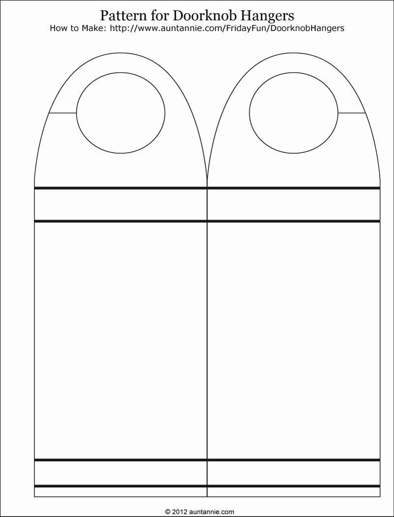 Free Printable Door Hanger Template Unique Printable Door Signs & Printable Rounded Doorhanger Free