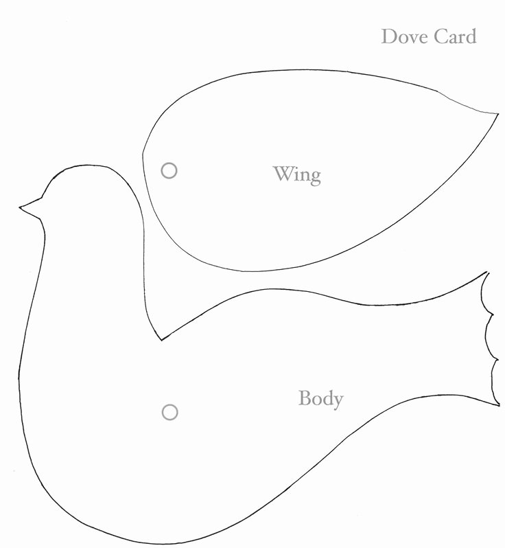 Free Printable Dove Template Awesome to Doves Face attach Wing to Body with Paper Fastener