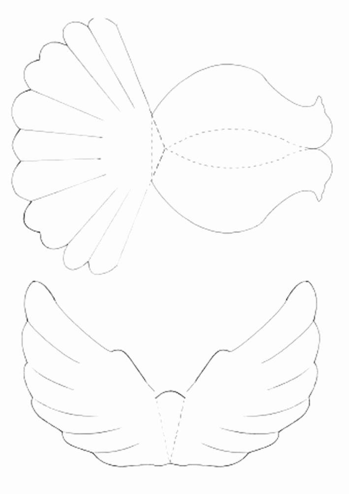 Free Printable Dove Template Beautiful Diy Paper Dove with Printable Template