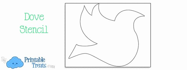 Free Printable Dove Template New Free Printable Dove Stencil — Printable Treats