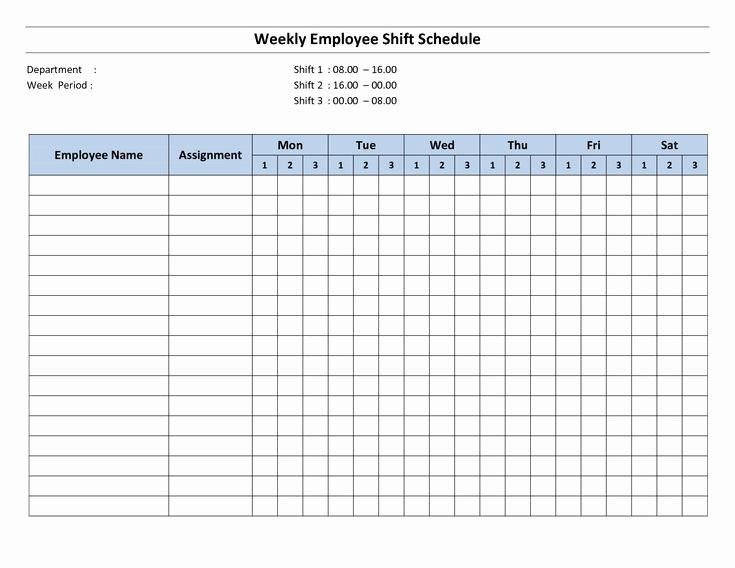 Free Printable Employee Schedule Awesome Free Printable Employee Work Schedules
