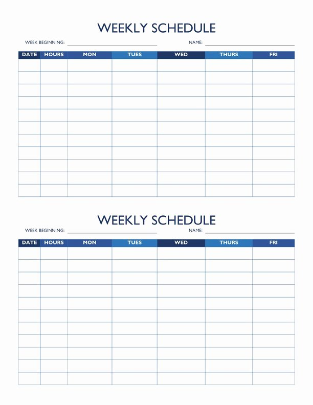 Free Printable Employee Schedule Beautiful Free Work Schedule Templates for Word and Excel