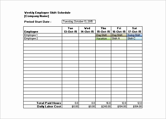Free Printable Employee Schedule Best Of Shift Schedule Template 20 Free Word Excel Pdf format