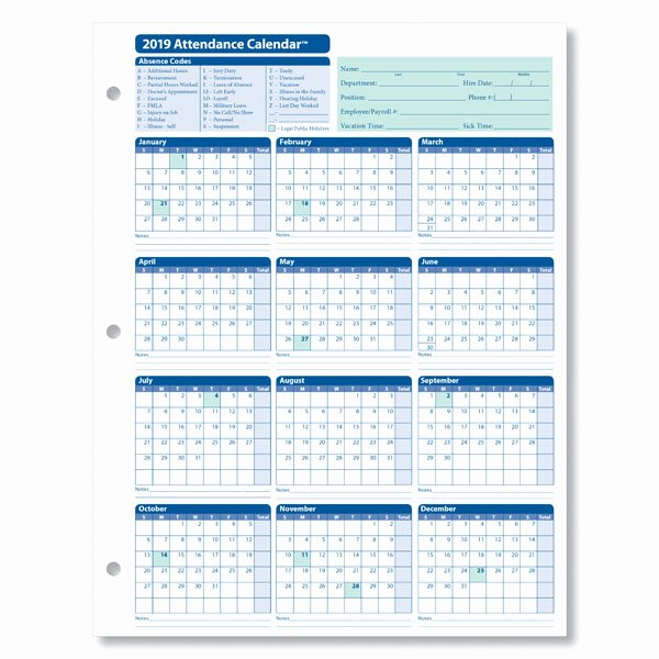 Free Printable Employee Schedule Elegant Monthly Employee attendance Calendar Sheets Blank forms