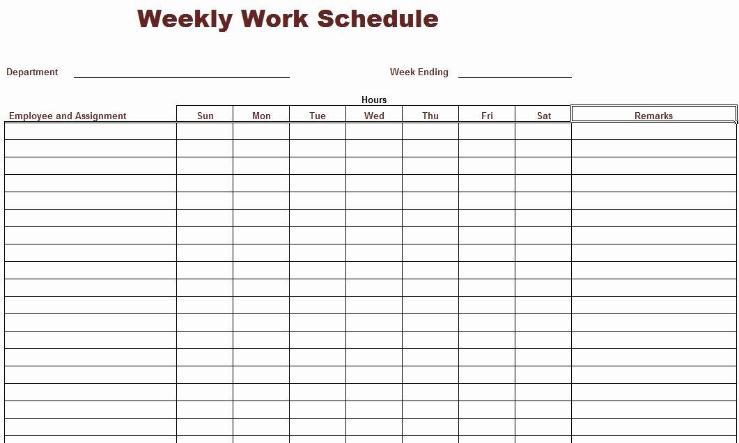 Free Printable Employee Schedule Elegant Work Schedule Template