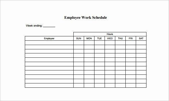 Free Printable Employee Schedule New 10 Employee Schedule Templates Pdf Word Excel