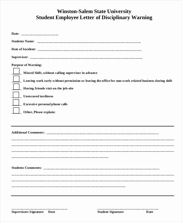 Free Printable Employee Write Up form Lovely Employee Write Up form 6 Free Word Pdf Documents