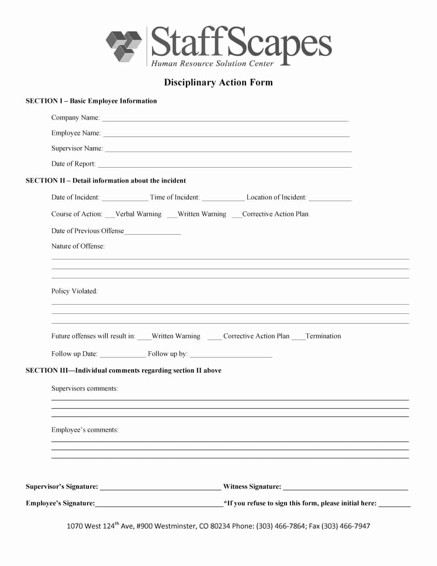 Free Printable Employee Write Up form New 46 Effective Employee Write Up forms [ Disciplinary
