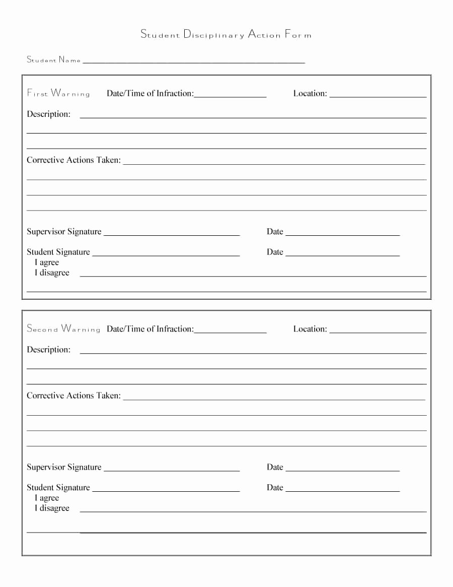 Free Printable Employee Write Up form Unique 46 Effective Employee Write Up forms [ Disciplinary