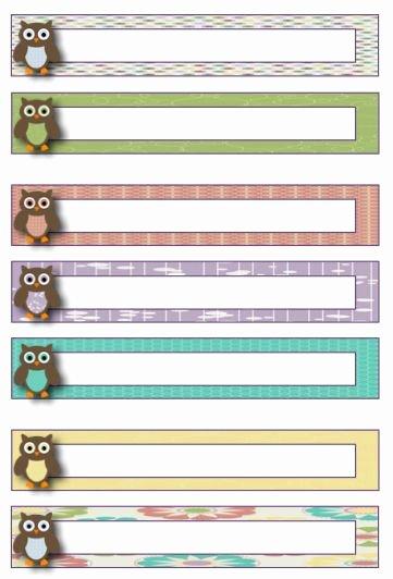Free Printable File Folder Labels Best Of Owl theme Blank File Folder Label Template Freebie