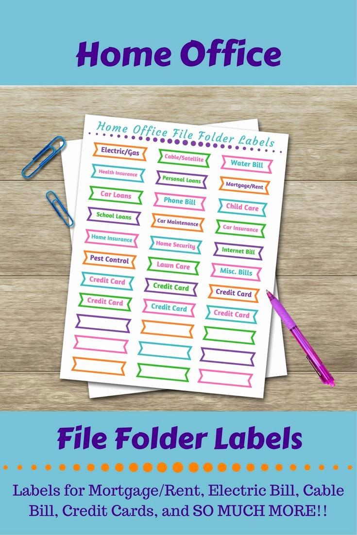 Free Printable File Folder Labels Elegant 25 Unique File Folder Labels Ideas On Pinterest